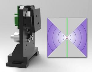 centrage laser sur granulomètre