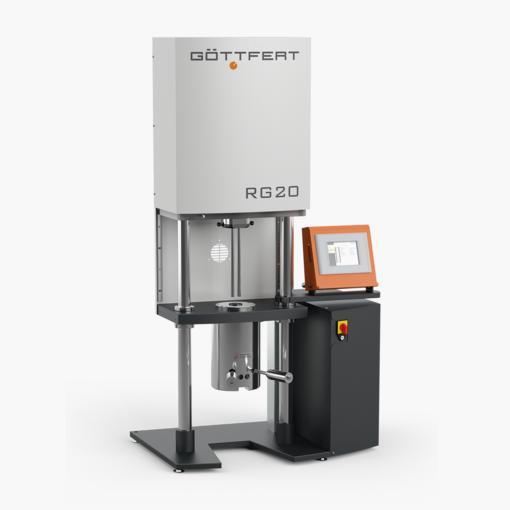 Rhéomètre capillaire RG 20 mesure viscosité thermoplastique. Société Gottfert